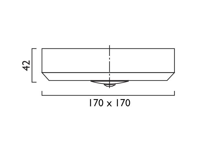 Waylight 3 Square Surface Corridor Lens